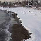 Snowy Winter Beach Patterns - Lake Ontario, Toronto, Canada by Georgia Mizuleva