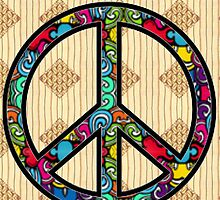 Peace Sign Design Pattern #4 by iArt Designs