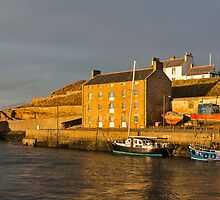 Burghead in the winter sun. by JASPERIMAGE