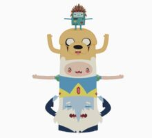 Adventure Time Totem Pole by sylvaticprawn