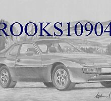 Porsche 944 SPORTS CAR ART PRINT by rooks10904