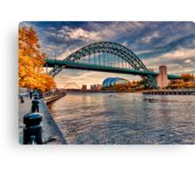 Autumn on the River Tyne Canvas Print