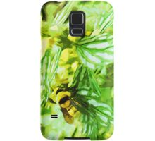 Honey Bee Gathering Pollen Abstract Impressionism Samsung Galaxy Case/Skin