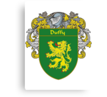 Duffy Coat of Arms/Family Crest Canvas Print