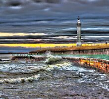 High tide at Seaburn Sunderland by Avril Harris