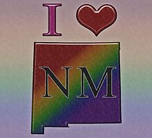 I Heart New Mexico Rainbow Map - LGBT Equality by LiveLoudGraphic