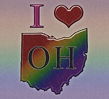 I Heart Ohio Rainbow Map - LGBT Equality by LiveLoudGraphic
