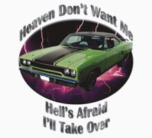 Plymouth Roadrunner Heaven Don't Want Me by hotcarshirts