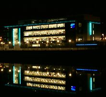 Scottish Television HQ at night  by Escocia Photography