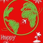 Happy Postcrossing Around The World by tropicalsamuelv