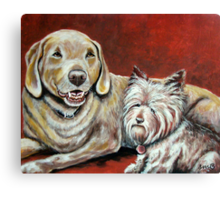Sammy and Belle Canvas Print