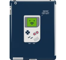 Never Forget (1989 - 1999) iPad Case/Skin