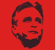 Jon Stewart Portrait for Red Background by portispolitics