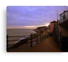 Sunset on Cromer Promenade Canvas Print