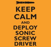 KEEP CALM... AND DEPLOY SONIC SCREW DRIVER (Black) by Sharknose
