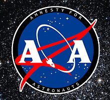 Amnesty For Astronauts Circle Logo by Christian Byerly