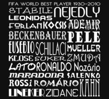 FIFA World Cup Best Player 1930-2010 [White] by V-Art