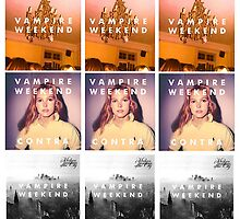 VAMPIRE WEEKEND ALBUMS POSTER by ByCleo