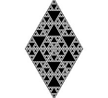Sierpinski Triangle- Inverted Diamond by PinkiePieJr