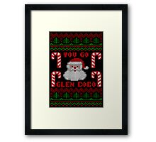 You Go Glen Coco Funny Ugly Christmas Sweater Framed Print