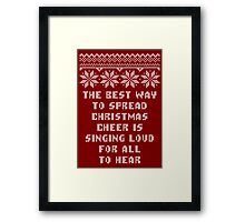 Buddy Elf Spread Christmas Cheer Holiday Ugly Sweater Framed Print