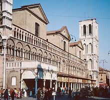 Side View Duomo Ferrari Italy 198404150082 by Fred Mitchell