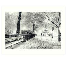 Winter Night - Madison Square Park - New York City Art Print