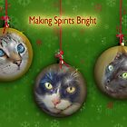 Making Spirits Bright – Three Christmas Cats by Owed to Nature