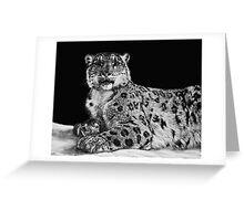 Snow King - snow leopard Greeting Card