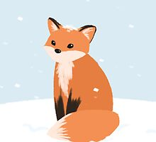 Snow Fox by Maddeh