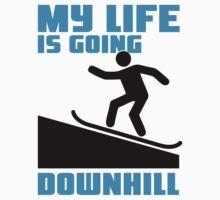 My life is going downhill: Snowboarding by nektarinchen