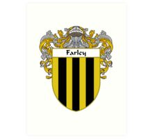 Farley Coat of Arms/Family Crest Art Print