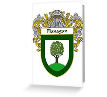 Flanagan Coat of Arms/Family Crest Greeting Card