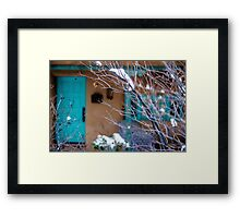 Blue Trim Background Framed Print