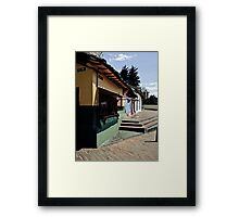 Walking and falling is learned. Framed Print