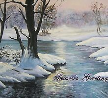 Winter Wonderland 'Season's Greetings' card by Marion Clarke