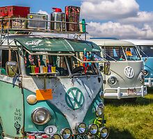 VW vintage buses.  by thatstickerguy