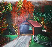 Cornwall Covered Bridge by shanin666