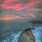 Freshwater Bay Sea Stacks by manateevoyager
