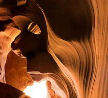 Antelope Canyon - Face Figure by Jerome Obille