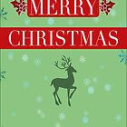 Christmas Reindeer Greeting Card by Diana Graves Photography