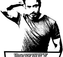 Downey tee white by klh0853