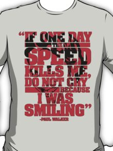 Paul Walker T-shirt 2 T-Shirt
