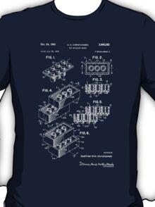 Lego Patent - Dark Background T-Shirt