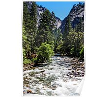 Merced River Rapids - Yosemite National Park California USA Poster