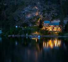 Illahee Inn on Kalamalka Lake by Michael Russell