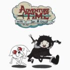 Adventure Time with Jon & Ghost by Krishthian