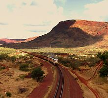 Tom Price Iron Ore Train by Caroline Scott