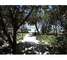 Path to the Beach Paradise. Photographic Print