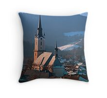 City church in winter wonderland | landscape photography Throw Pillow